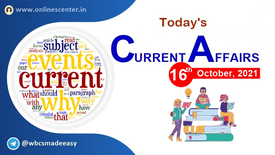 Current Affairs of today- 16th October | download free pdf