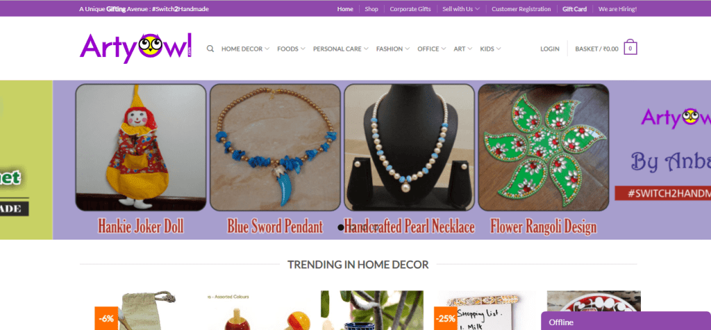 marketplaces to sell handmade items online in India