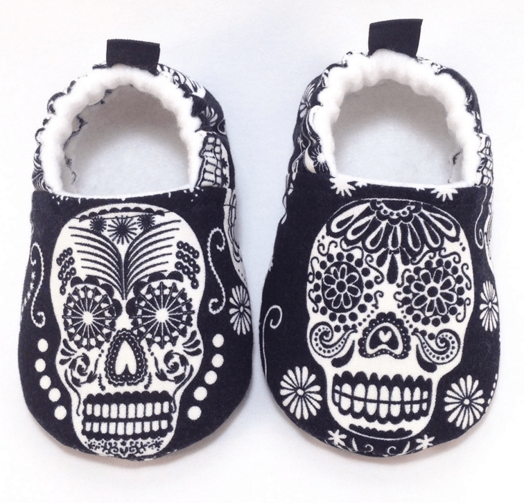 sugar skull baby shoes