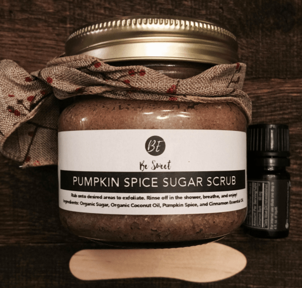 pumpkin spice sugar body scrub