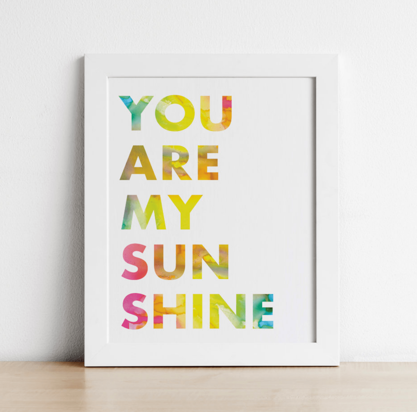 photograph relating to You Are My Sunshine Printable known as Yourself Are My Sun Wall Artwork Printable within just Rainbow Fashion