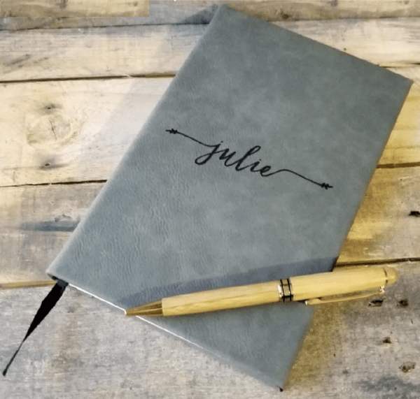 Personalized leather journal for him engraved leather journal with name