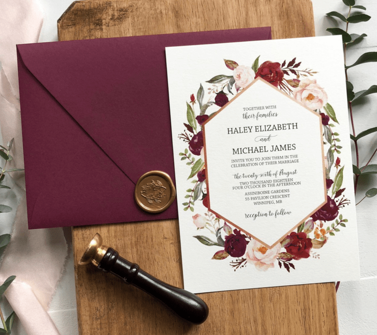 burgundy dusty rose floral wedding invitations watercolor floral wedding invitations blush floral wedding invitations