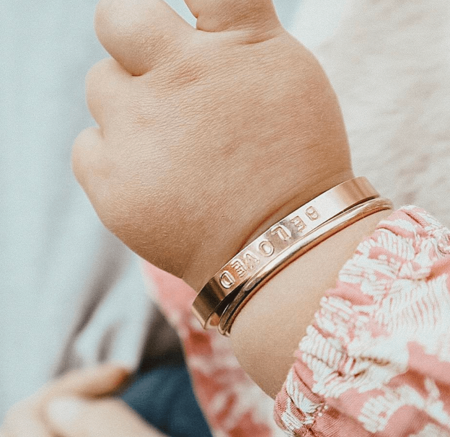 Rose Gold Baby Bangle Bracelet Girls Baby Bracelet with Name Baby Bangles Gold