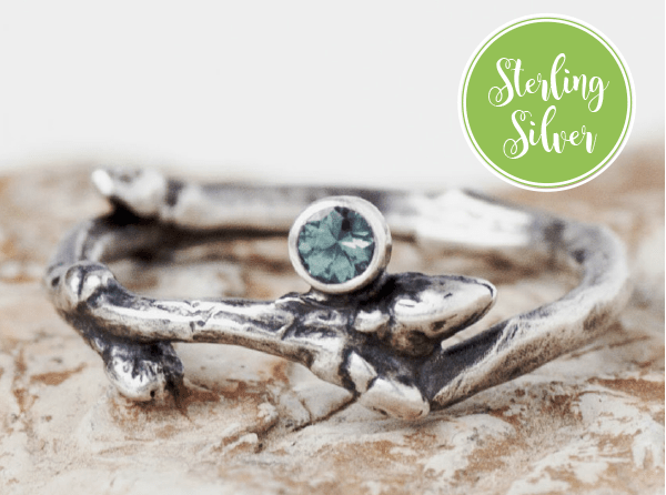 teal montana sapphire ring sterling silver sapphire engagement ring