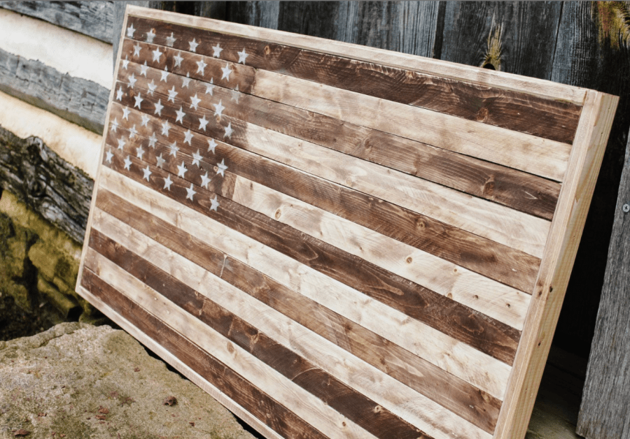 wooden american flag wall art distressed large wood flag