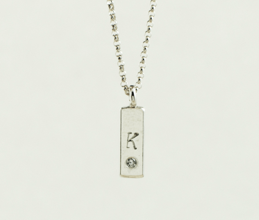 personalized custom name necklaces with tiny initial