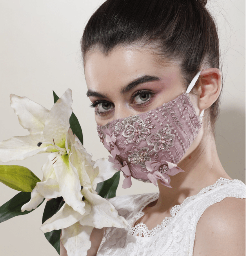 fancy face mask for wedding