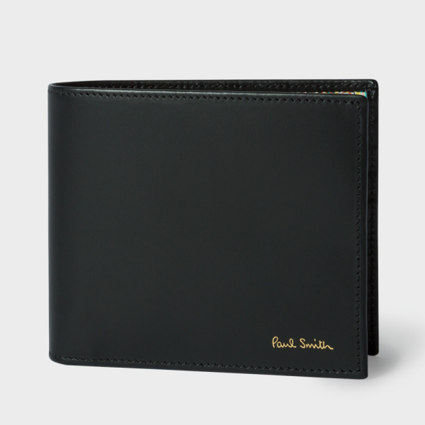 men_s_black_leather_signature_stripe_interior_billfold_wallet