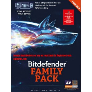 Bitdefender Total Security 10 Device 1 Year Family Pack ( Instant Email Delivery of Key ) No CD Only Key