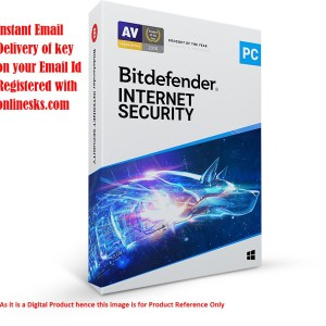 Bitdefender Internet Security 1 PC 1 Year Latest Version ( Instant Email Delivery of Key ) No CD Only Key