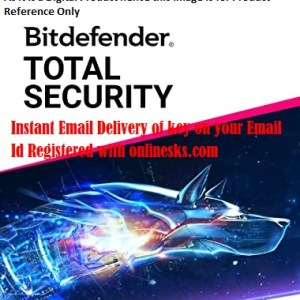 Bitdefender Total Security 1 Device 1 Year Latest Version ( Instant Email Delivery of Key ) No CD Only Key