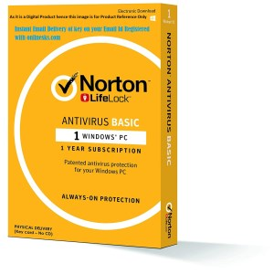 Norton AntiVirus Basic 1 PC 1 Year Latest version ( Instant Email Delivery of Key ) No CD Only Key