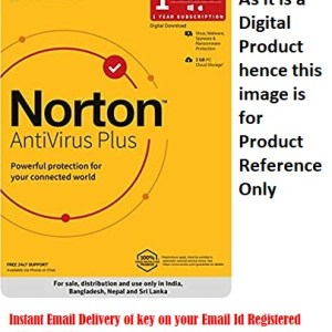 Norton AntiVirus Plus 1 PC 1 Year Latest version ( Instant Email Delivery of Key ) No CD Only Key