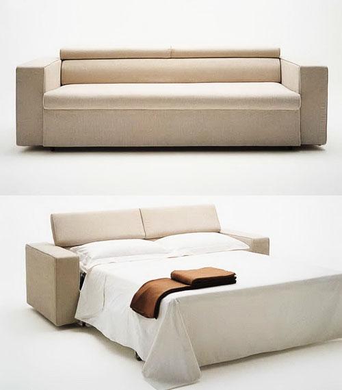 Buy Cream Color Modern Sofa Cum Bed At Onlinesofadesign