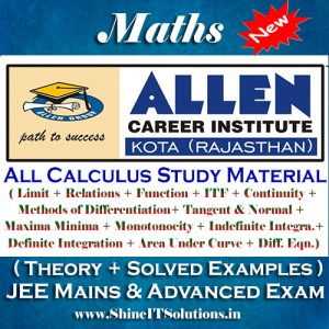 All Calculus Study Materials In One - Mathematics Allen Kota Study Material for JEE Mains and Advanced Examination (in PDF)