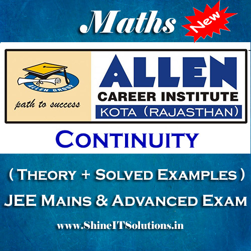 Continuity - Mathematics Allen Kota Study Material for JEE Mains and Advanced Examination (in PDF)