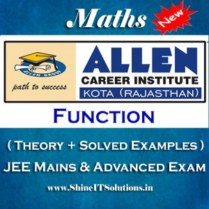 Function - Mathematics Allen Kota Study Material for JEE Mains and Advanced Examination (in PDF)