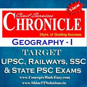 Geography (Part-I) - Chronicle IAS Academy Study Material for UPSC Railways SSC and State PSC Examination (in PDF)