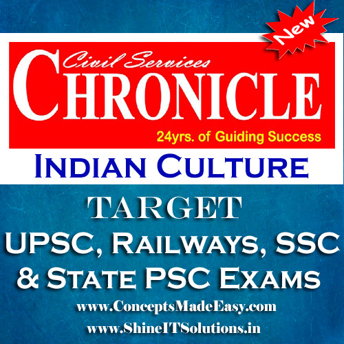Indian Culture - Chronicle IAS Academy Study Material for UPSC Railways SSC and State PSC Examination (in PDF)