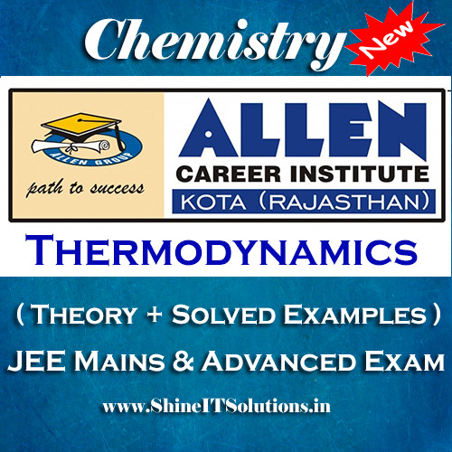 Thermodynamics - Chemistry Allen Kota Study Material for JEE Mains and Advanced Examination (in PDF)