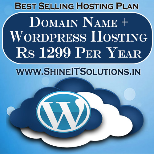 Domain Name + Wordpress Hosting at Rs 1299 Per Year | Best Plan of Shine IT Solutions