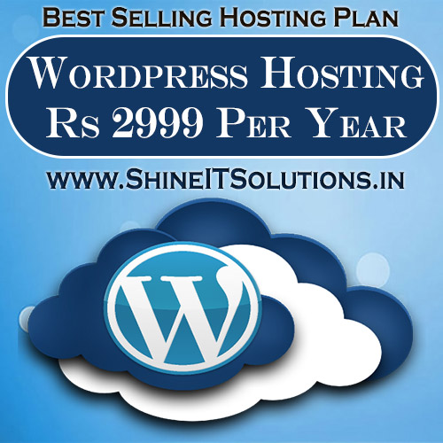 Wordpress Hosting at Rs 2999 Per Year | Best Plan of Shine IT Solutions