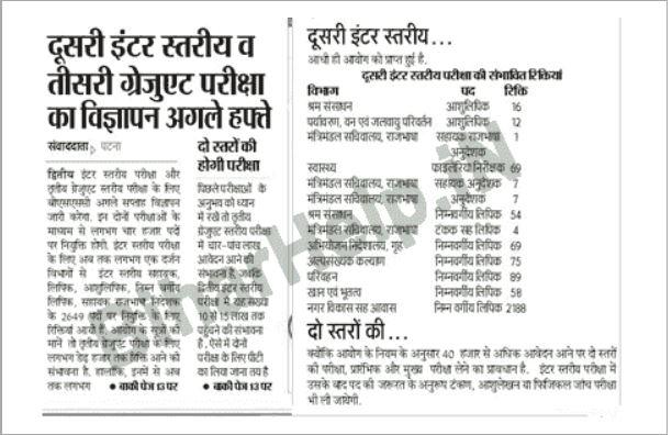 Bihar SCC Sachivalaya Vacancy 2021