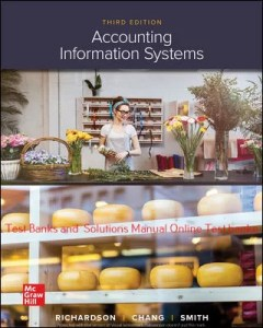 Accounting Information Systems 3rd Edition By Vernon Richardson and Chengyee Chang and Rod Smith ©2021 Test bank and  Solutions Manual