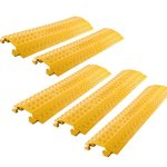 5-Pack-Bundle-of-High-Traffic-Pedestrian-Light-Equipment-Drop-Over-Cable-Cover-Ramps-0
