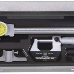 Brown-Sharpe-TESA-0530021-4-Piece-Measuring-Set-with-Micrometer-Dial-Calipers-Depth-Measuring-Base-and-Storage-Case-0