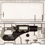 Fowler-Full-Warranty-Xtra-Value-II-Electronic-Micrometer-with-Grey-Enamel-Finish-54-870-001-0-0-10-25mm-Measuring-Range-0000050001mm-Resolution-0000160004mm-Accuracy-RS-232-Output-0-0