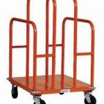 SPG-UC2630-L1-GillisJarke-Panel-and-Lumber-Cart-Welded-Steel-1200-lbs-Capacity-30-Length-26-Width-44-34-Height-5-2-Swivel2-Rigid-Polypropylene-Wheels-0