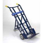 Wesco-210062-Heavy-Duty-Steel-Warehouse-4-Wheel-Hand-Truck-Moldon-Rubber-Wheels-1000-lb-Load-Capacity-20-12-Width-x-37-14-Height-x-22-Depth-0