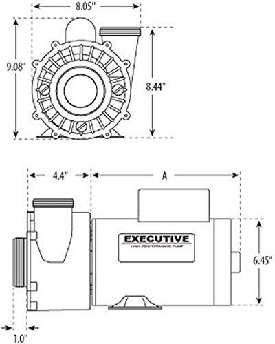4 HP 230V 2-Speed Waterway Spa Pump Side Discharge 2 1/2