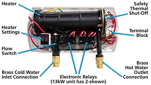 220 Wall Heater Wiring Diagram Atmor At 900 03 Tankless Electric Instant Water Heater