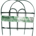 Glamos-Folding-Metal-Wire-Garden-Fence-18-Inch-by-10-Foot-0