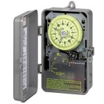 Intermatic-R8816P101C-Timer-240V-3HP-DPST-Sprinkler-Irrigation-Mechanical-Timer-w-14-Day-Skipper-0
