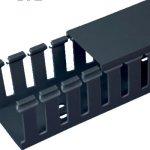 Panduit-G4X4BL6-Type-G-Wide-Slot-Wiring-Duct-Lead-Free-PVC-Black-0