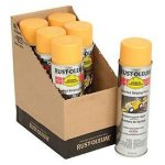 Rust-Oleum-2348838-2300-System-Inverted-Striping-Paint-Aerosol-Yellow-Lot-of-6-0