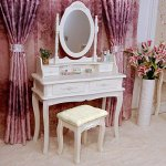 Tribesigns-Makeup-Vanity-Table-Set-Bedroom-Dressing-Table-with-Stool-and-Mirror-1-Mirror-4-Drawer-0-1