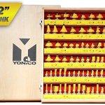 Yonico-17702-70-Bits-Professional-Quality-Router-Bit-Set-Carbide-12-Inch-Shank-0