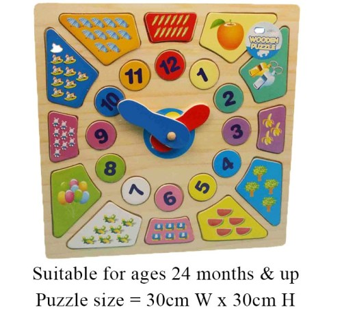 Wooden Learning Puzzle Clock 62531