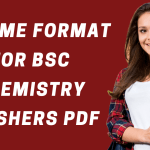 BSC Chemistry Resume Format