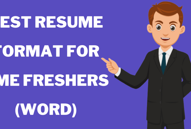 Resume format for DME freshers