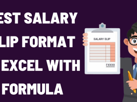Salary Slip Format In Excel With Formula