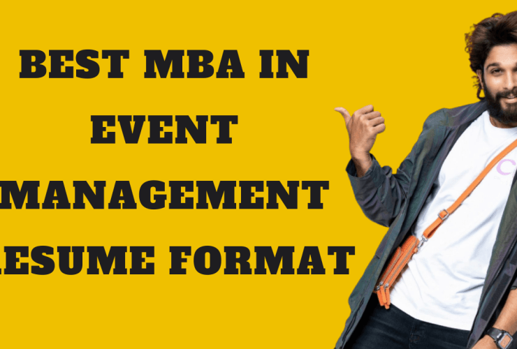 MBA In Event Management Resume
