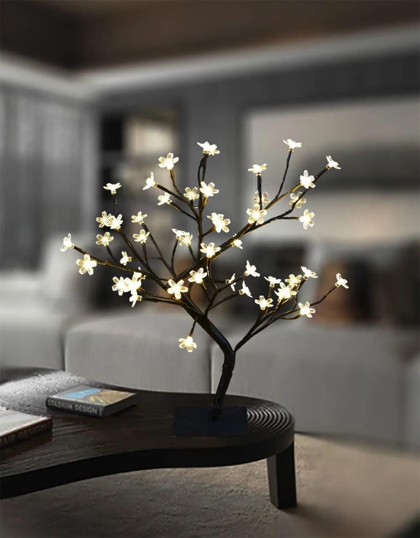 Cherry Blossom Bonsai Tree - modern office decor ideas