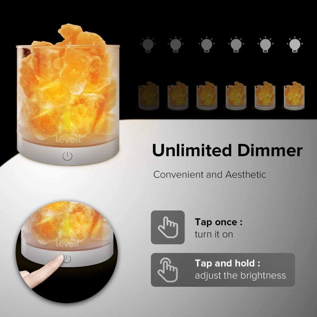 Himalayan Salt Lamp - best therapy office decor ideas