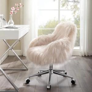 Linon Fiona Chrome Base Office Chair